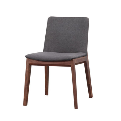 Walnut Guest or Conference Chairs with Grey Padded Seat (Set of 2)