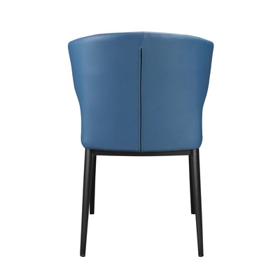 Finely-Crafted Padded Steel Blue Guest or Conference Chair (Set of 2)