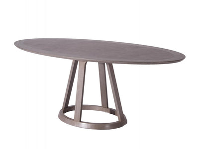 "79"" Oval Meeting Table in Gray Oak Veneer"