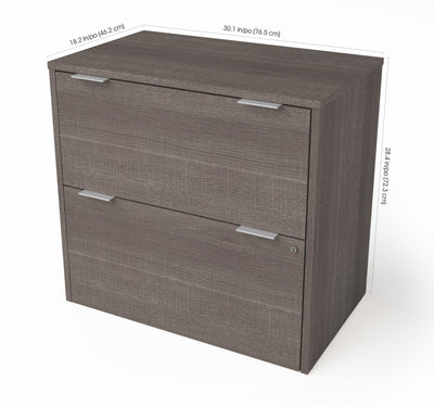 Elegant Locking Bark Gray Lateral File Cabinet