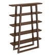 Solid Bamboo Bookshelf in Black Walnut Finish