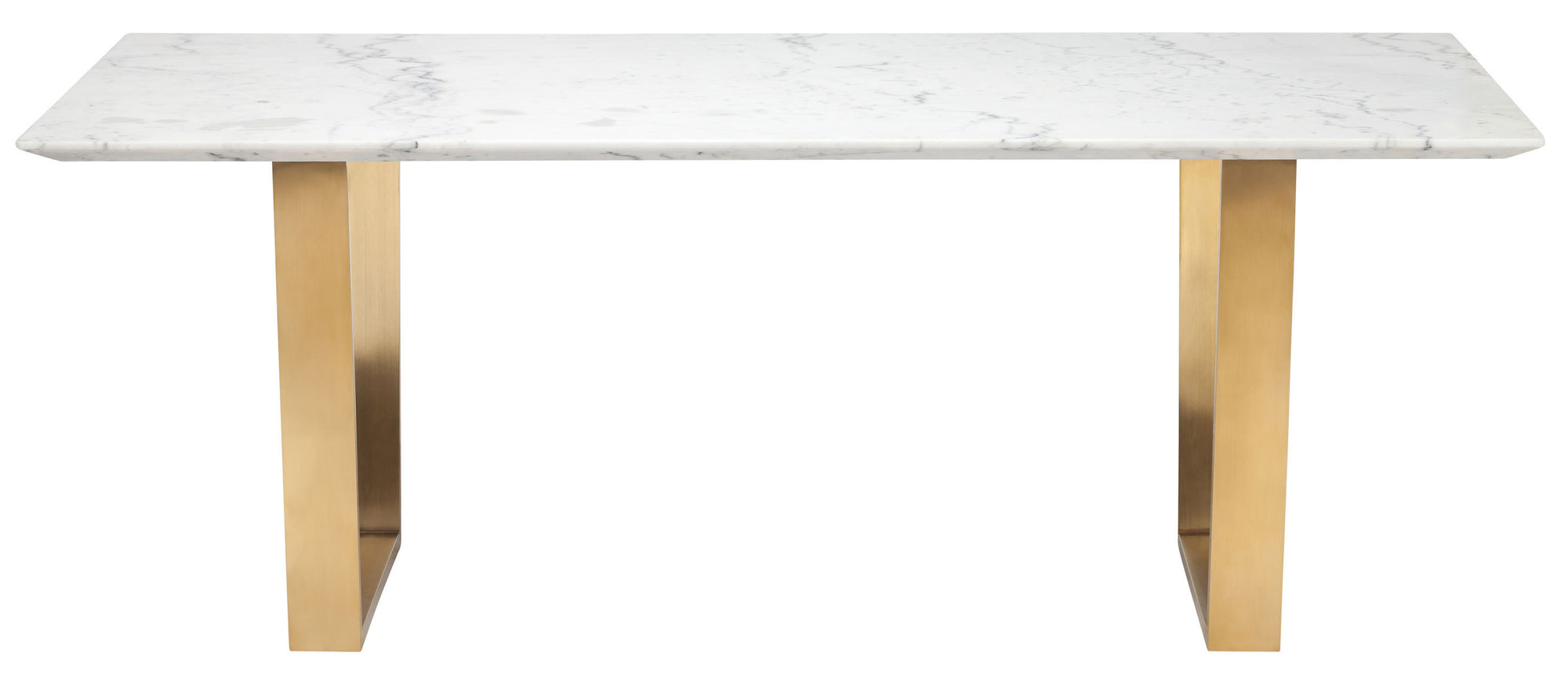 79 White Marble Desk With Brushed Gold Legs By Nuevo Officedesk Com