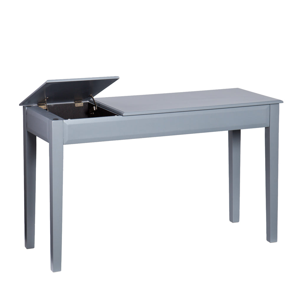 "Sleek Desk Sleek Gray 50"" Office Desk With Dual Liftup Storage Compartments"