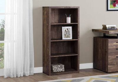 Classic Brown Woodgrain Office Bookcase