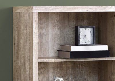 Classic Taupe Woodgrain Office Bookcase