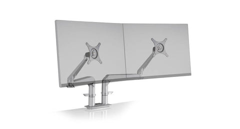 Premium Dual Monitor Arm in Black, Gray, or White
