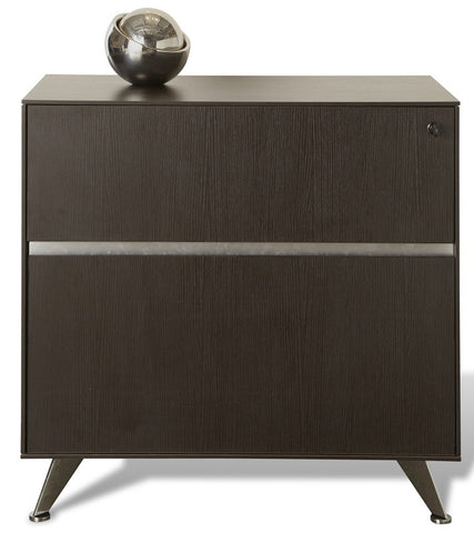 Modern 300 Collection Locking File Cabinet in Espresso (ASSEMBLED)