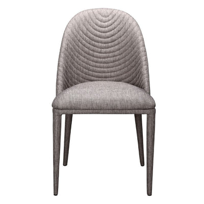 Fabric-Covered Grey Guest or Conference Chair (Set of 2)