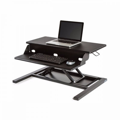 Sleek Black Desk Riser w/ Pneumatic Lift