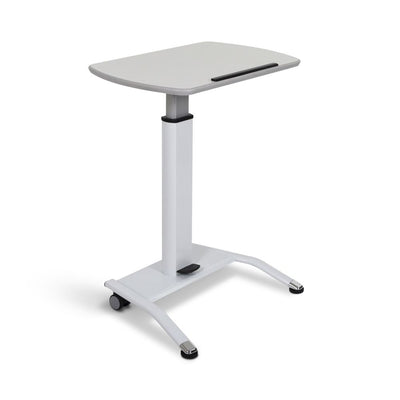 White Adjustable Lectern w/ Pneumatic Foot Pedal