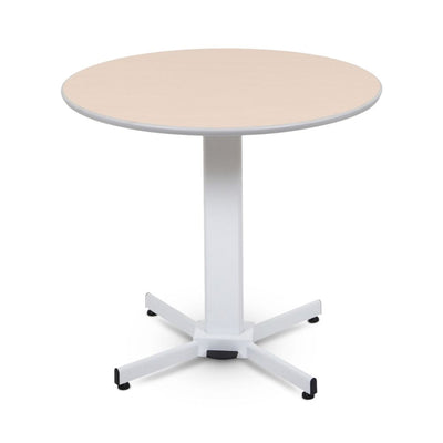 "Classic 36"" Round Tan Meeting Table w/ Pneumatic Lift"