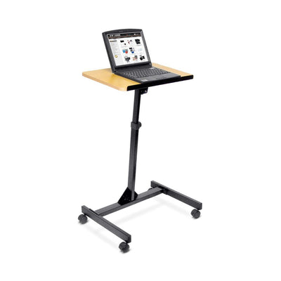 Convenient Mobile Standing Desk w/ Wood Veneer