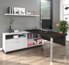 Modern Premium L-shaped Desk in Deep Gray & White Finish