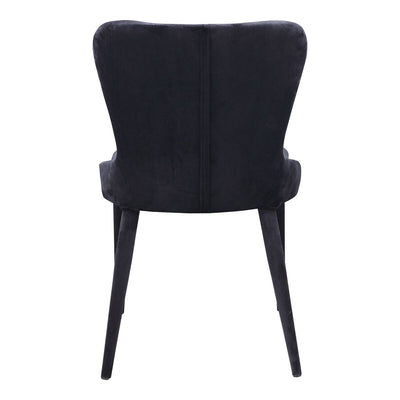 Black Armless Polyester Guest or Conference Chair with Metal Legs (set of 2)