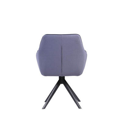 Conference or Guest Armchair with Blue Grey Cotten and Polyester Blend