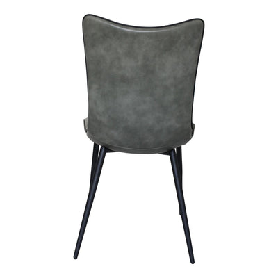 Armless Glossy Dark Grey Guest or Conference Chair (Set of 2)