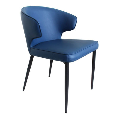 Stylish Glossy Blue Guest or Conerence Chairs (set of 2)