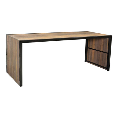 "79"" Solid Teak and Steel Executive Desk or Meeting Table"