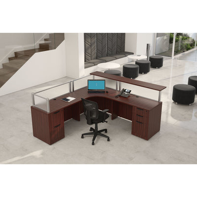 L-shaped Double Pedestal Reception Desk
