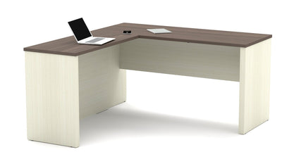 Modern White Chocolate & Antigua Corner Desk