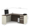 White Chocolate & Antigua Premium L-shaped Desk