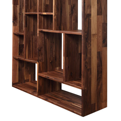 "41"" Solid Reclaimed Walnut Bookshelf Unit"