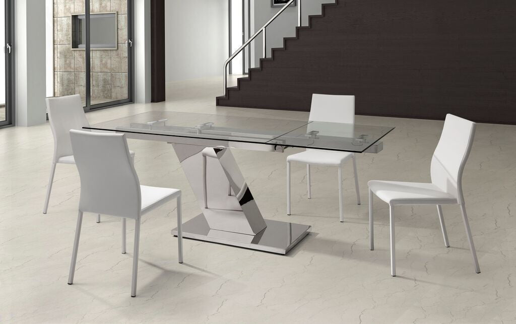 Ultra Modern Stainless Steel & Glass Executive Desk or Conference ...
