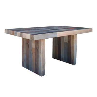 Grey Recycled Pine Modern Desk Or Meeting Table OfficeDeskcom - Desk with meeting table
