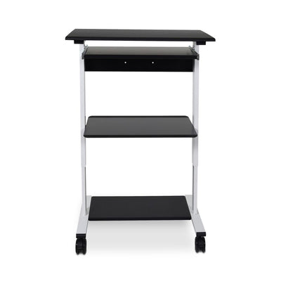 "30"" Black & White Mobile Adjustable Workstation or Office Desk"