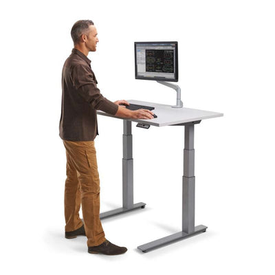 "48"" Premium Sit-Stand Office Desk with Base & Top Color Options"