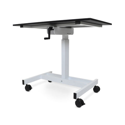 "40"" Mobile Single-Column Sit-Stand Workstation or Desk"