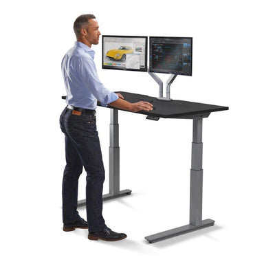 "72"" Premium Sit-Stand Office Desk with Base & Top Color Options"