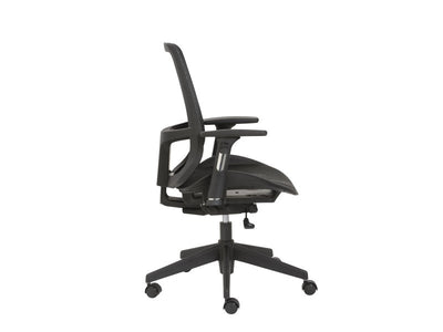 Ultra Comfortable Black Mesh Office Chair with Adjustable Armrests