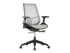 Ultra Comfortable Gray Mesh Office Chair with Adjustable Armrests