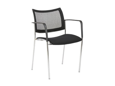 Black Visitor / Guest Chair with Mesh Back (SET of TWO)