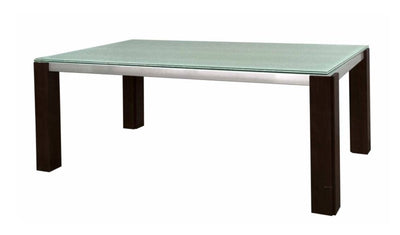 "Elegant 75"" Glass-Top Executive Desk"