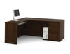 Chocolate Premium Single-Pedestal L-shaped Desk