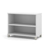Simple White Bookcase with Adjustable Shelf