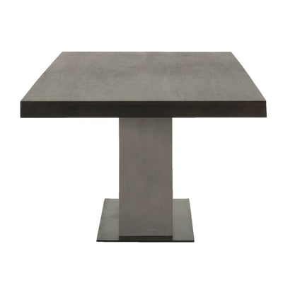 Ultra Chic Conference Table with Espresso Top & Concrete Pedestal