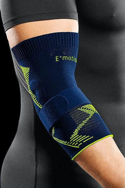 medi Epicomed E⁺motion - Elbow Support - Blue/Green - Sport Bandage for Extra Stability