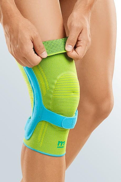 medi Genumedi® PSS - Both sides compatible - Knee support - Green/blue - Patellar support strap