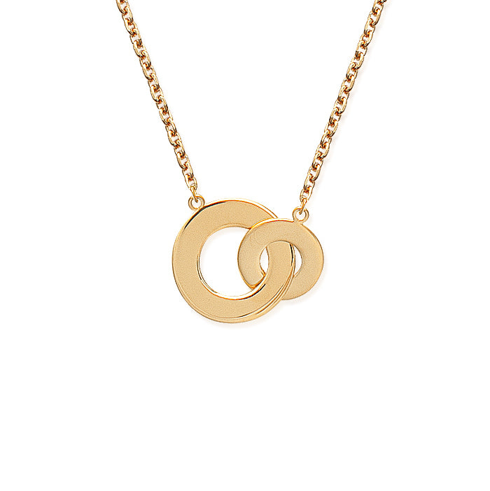 Burren Jewellery 18k gold plate Circle around me necklace