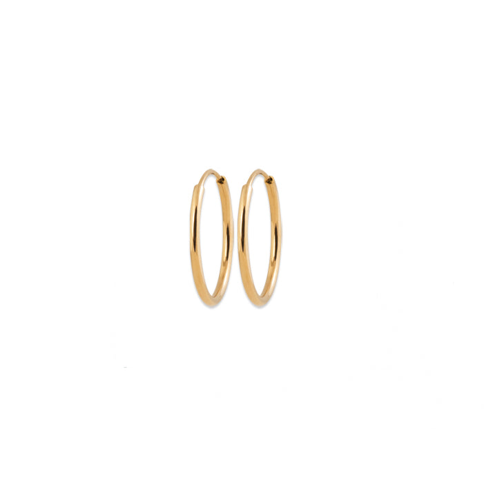 Burren Jewellery 18k gold plate Hoop No1 earrings