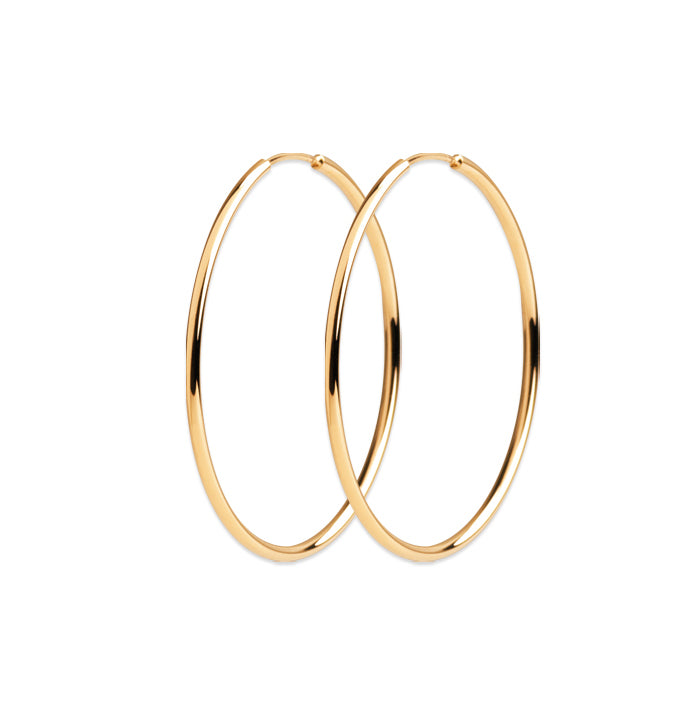 Burren Jewellery 18k gold plate Hoop No3 earrings