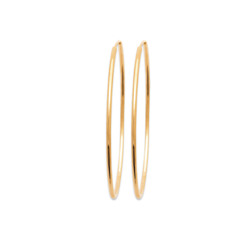 Burren Jewellery 18k gold plate Hoop No4 earrings