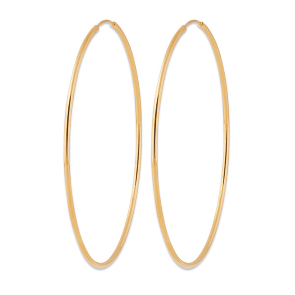 Burren Jewellery 18k gold plate Hoop No6 earrings