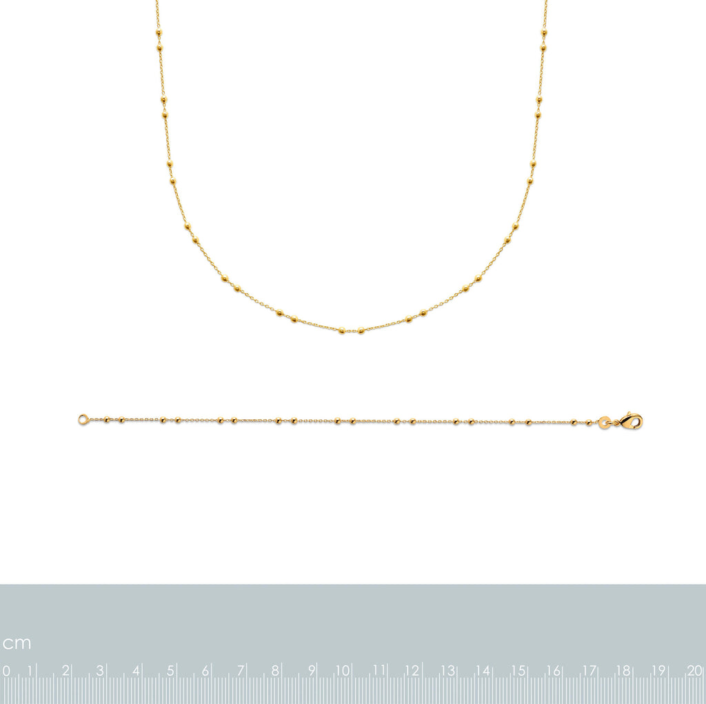 Burren Jewellery 18k gold plate Knightness necklace