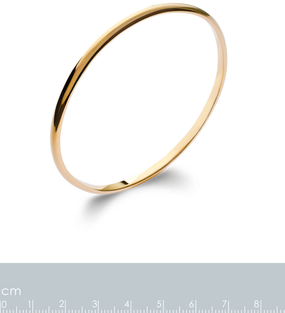 Burren Jewellery 18k gold plate Nitty gritty Bangle measurements