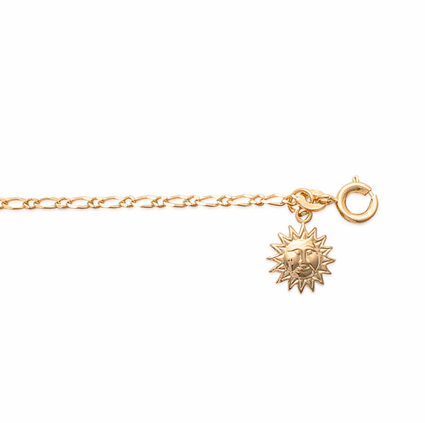 Burren Jewellery 18k gold plate Sunshine face anklet