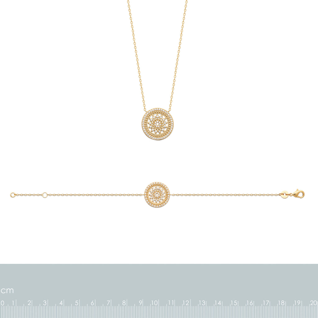 Burren Jewellery 18k gold plate beat of the drums necklace measurements